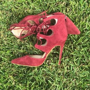 [Shoe Republic LA] Suede Lace Up Heels Size 8
